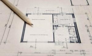 Plan zum Hausbau.