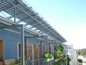 Solarstromanlage auf dem Dach in Vauban.