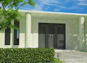 Neubau mit großzugigem Eingangsbereich.
