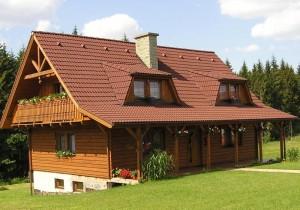 Oekologisch gebautes Haus.