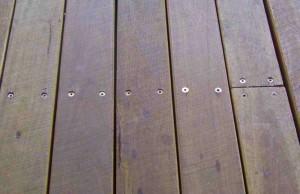 Terrasse aus Holz.