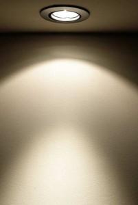 Spotlight als Lichtquelle.
