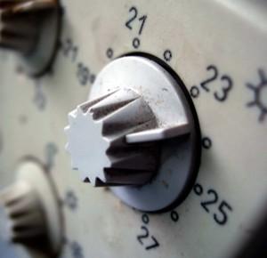 Thermostat zur Temperatureinstellung.
