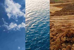 Luft, Wasser und Erde.
