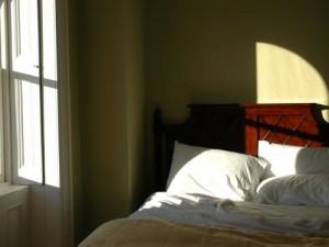 Gemütliches Schlafzimmer.