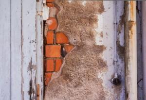 Renovierungsbedürftige Fassade.